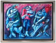 Yuri Yuroz Large Original Painting Oil Painting On Canvas Modern Cubism Artwork