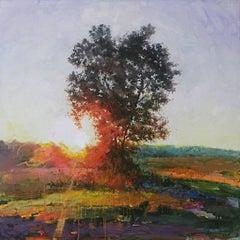 Sun Catcher Landscape with Tree