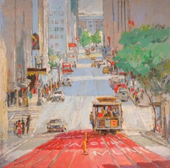 Cable Car No. 18 on Powell Street, Original Painting