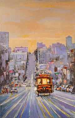 Cable Car No. 543 on California Street, Original Painting