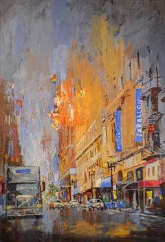 Post Street in San Francisco, Original Painting