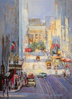 Powell Street near Union Square, Oil Painting