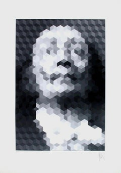 Faces of Dali #2, Limited Edition Silkscreen, Jean-Pierre Vasarely (YVARAL)