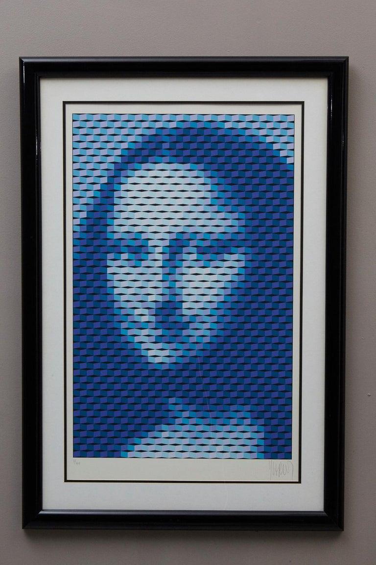 Mona Lisa - Print by Yvaral (Jean-Pierre Vasarely)