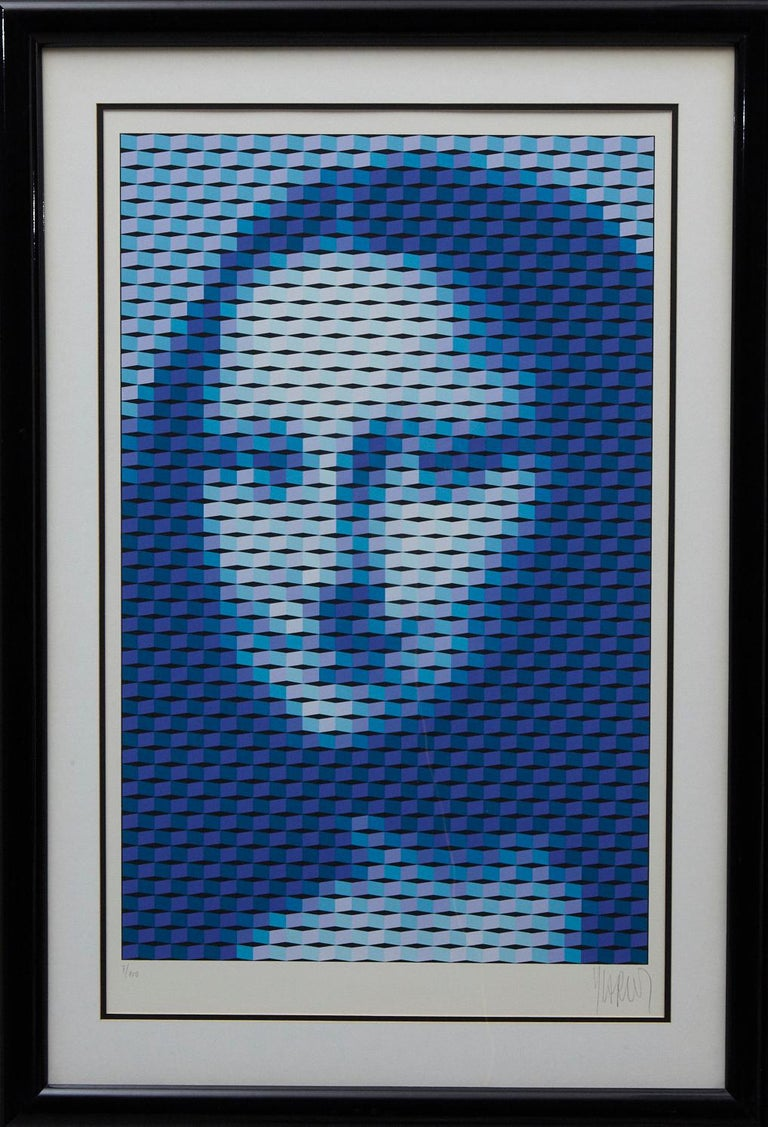 Yvaral (Jean-Pierre Vasarely) Abstract Print - Mona Lisa