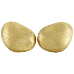 Yvel 18 Karat Yellow Gold Push Back Earrings