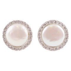 Yvel Cultured Pearl Diamond Earrings