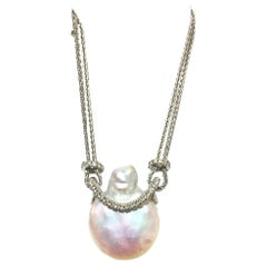 Yvel Pearl and Diamond Necklace N1CADW