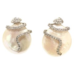 Yvel Pearls and Diamonds Earring E295FLLW