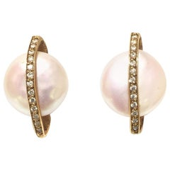 Yvel Pearls and Diamonds Stud E1SHABY