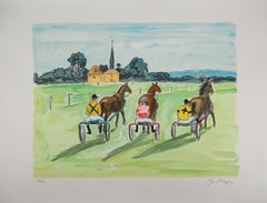Before the Trotting Race - Original Lithograph Handsigned Numbered