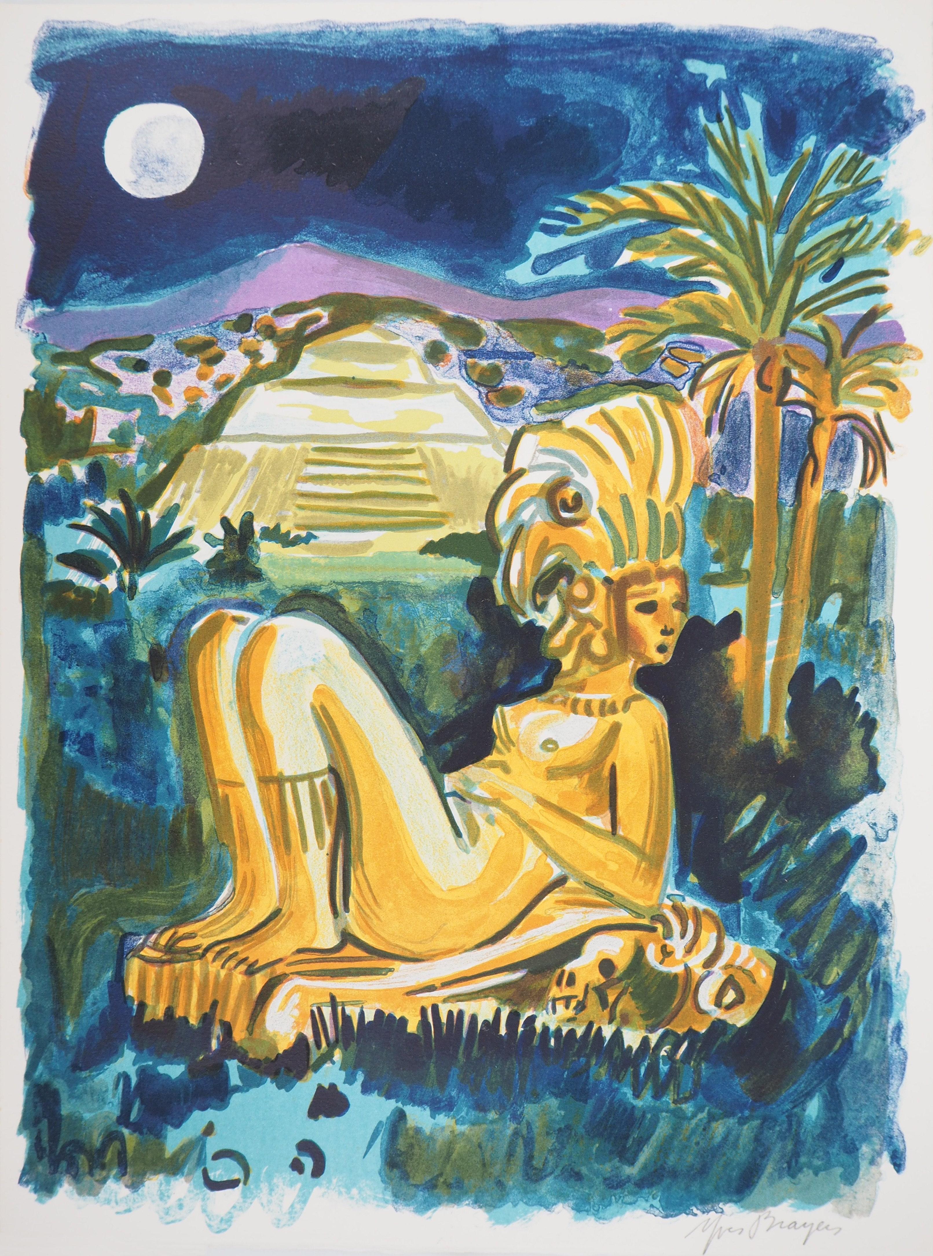 Mexico Mysteries (Pyramid) - Original handsigned lithograph