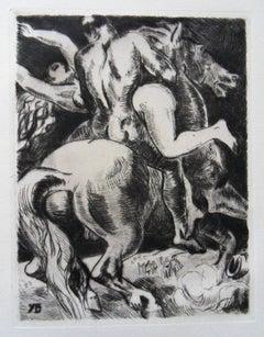 Rape of the Sabine Women - Original etching, 1943
