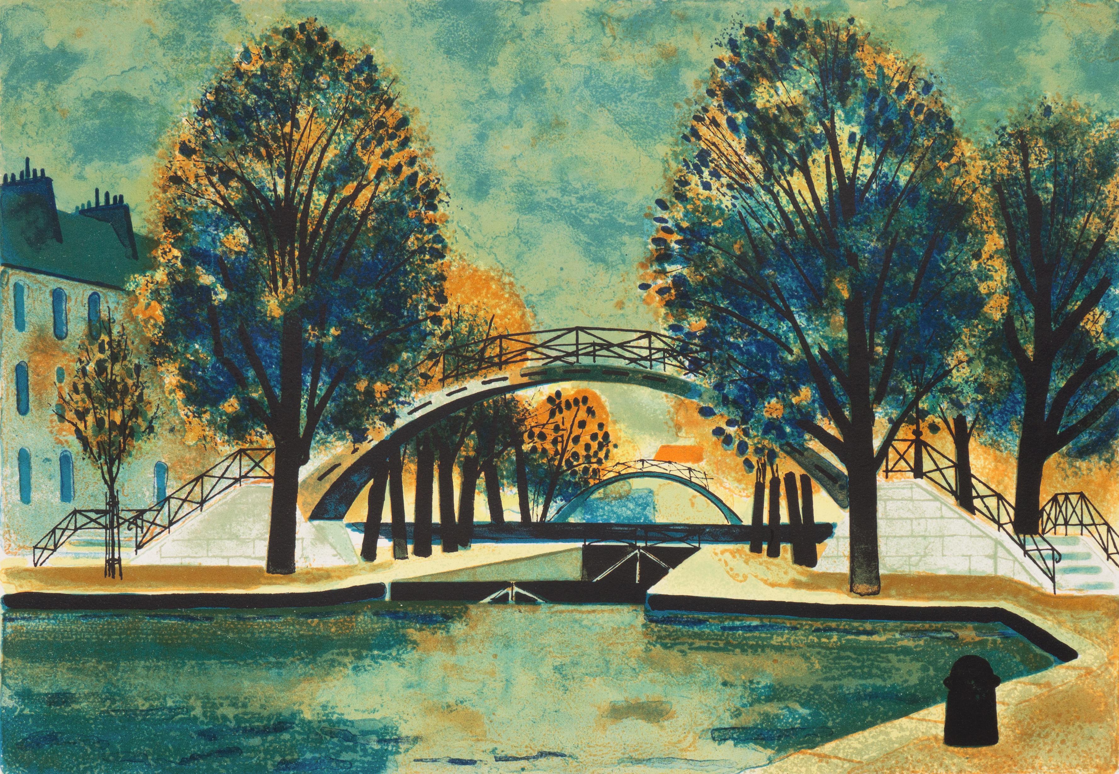 Post-Impressionist landscape, 'Canal Saint-Martin', School of Paris, Paris MOMA