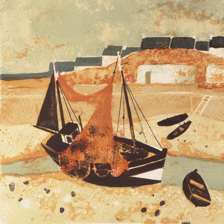 'Low Tide, Brittany', Musée d'Art Moderne, Paris, Ecole des Beaux-Arts, Benezit - Post-Impressionist Print by Yves Ganne