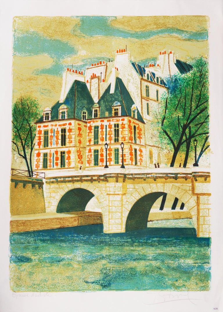 'Paris, The Pont Neuf', Post-Impressionist, Fernand Léger, Musée d'Art Moderne - Print by Yves Ganne