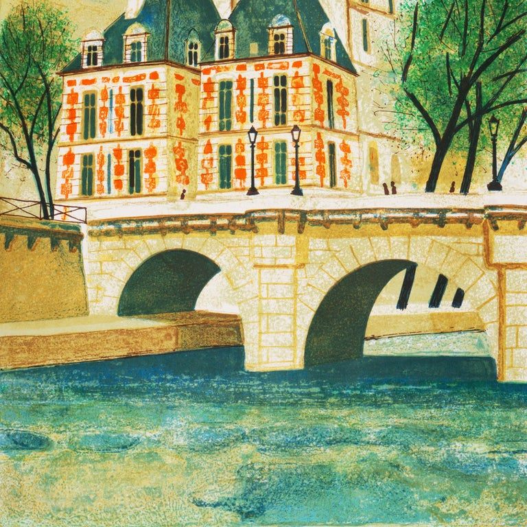'Paris, The Pont Neuf', Post-Impressionist, Fernand Léger, Musée d'Art Moderne For Sale 2