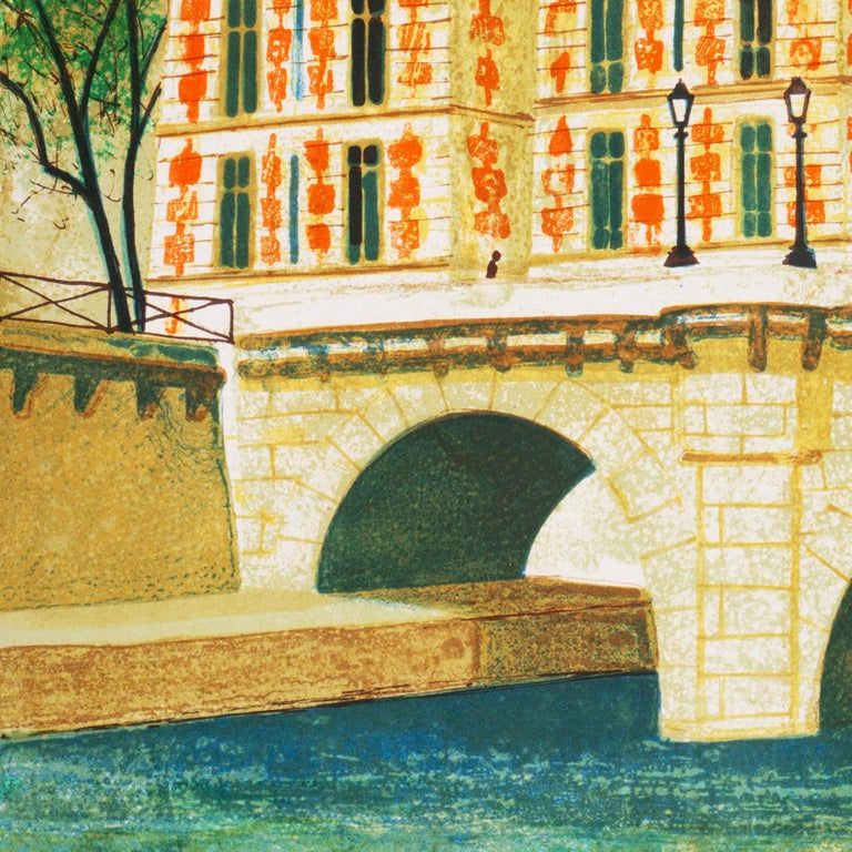 'Paris, The Pont Neuf', Post-Impressionist, Fernand Léger, Musée d'Art Moderne For Sale 4