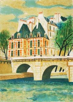 'Paris, The Pont Neuf', Post-Impressionist, Fernand Léger, Musée d'Art Moderne