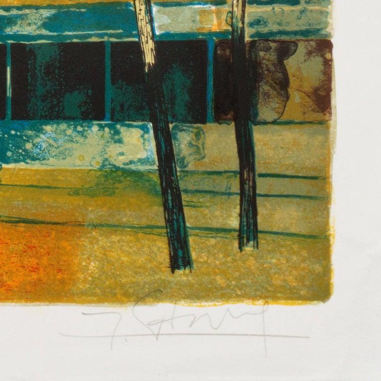 'Place du Tertre, Montmartre', Paris, Ecole des Beaux-Arts, Musée d'Art Moderne - Post-Impressionist Print by Yves Ganne