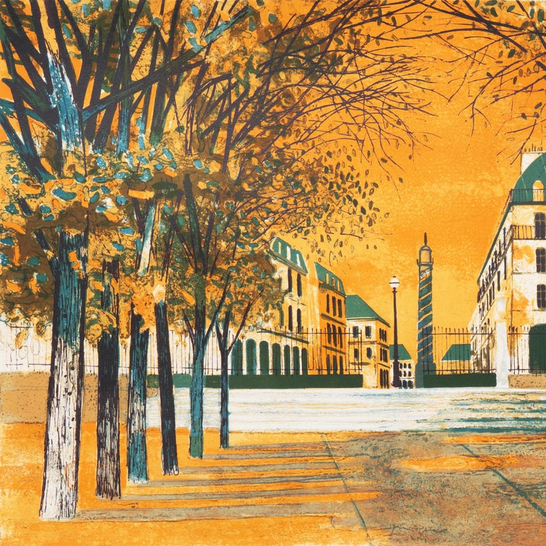 Post Impressionist View of the Place Vendôme, Paris   For Sale 1