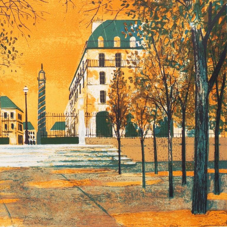 Post Impressionist View of the Place Vendôme, Paris   For Sale 2