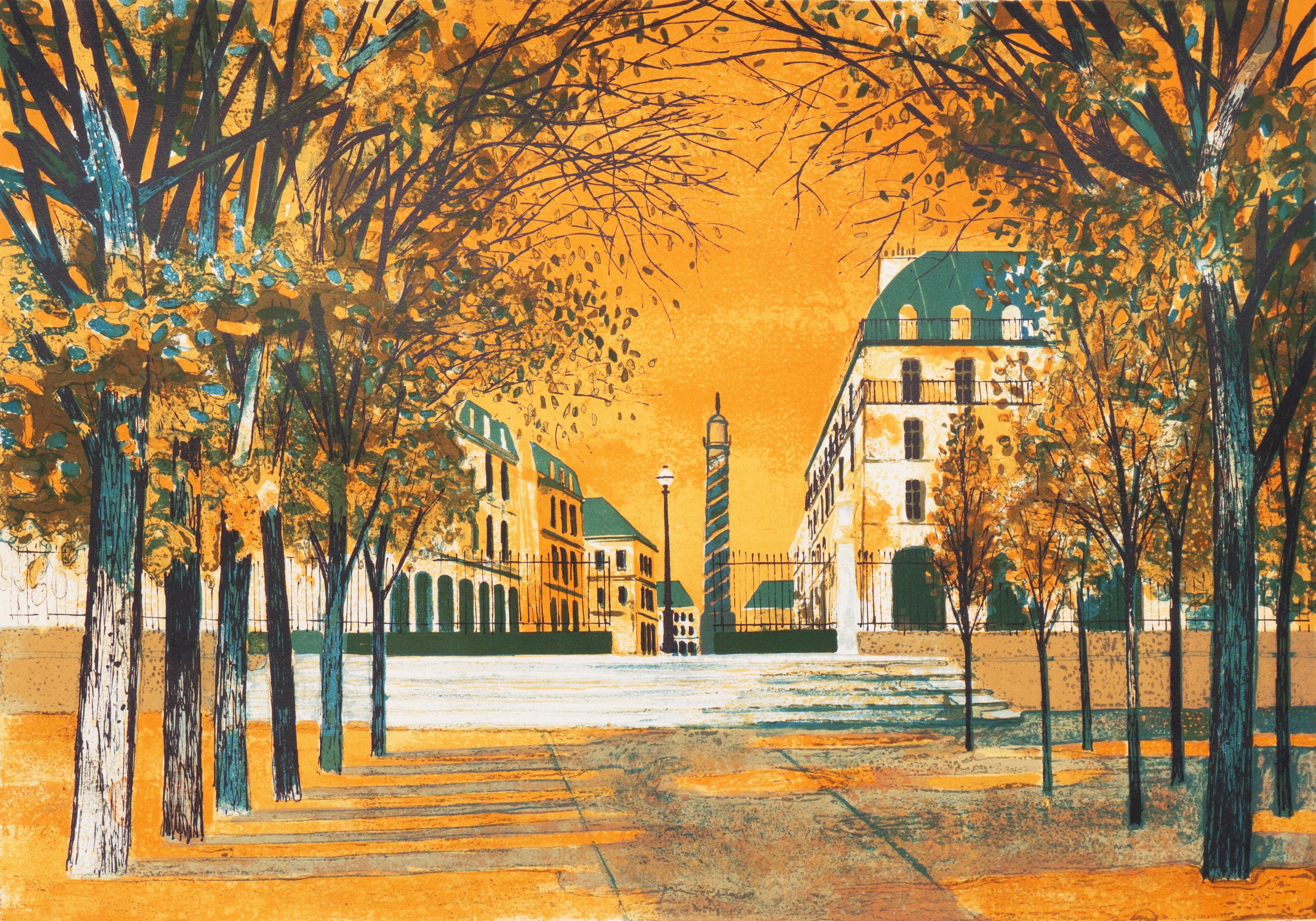 'View of the Place Vendôme', Musée d'Art Moderne Paris, Academie Julian, Benezit