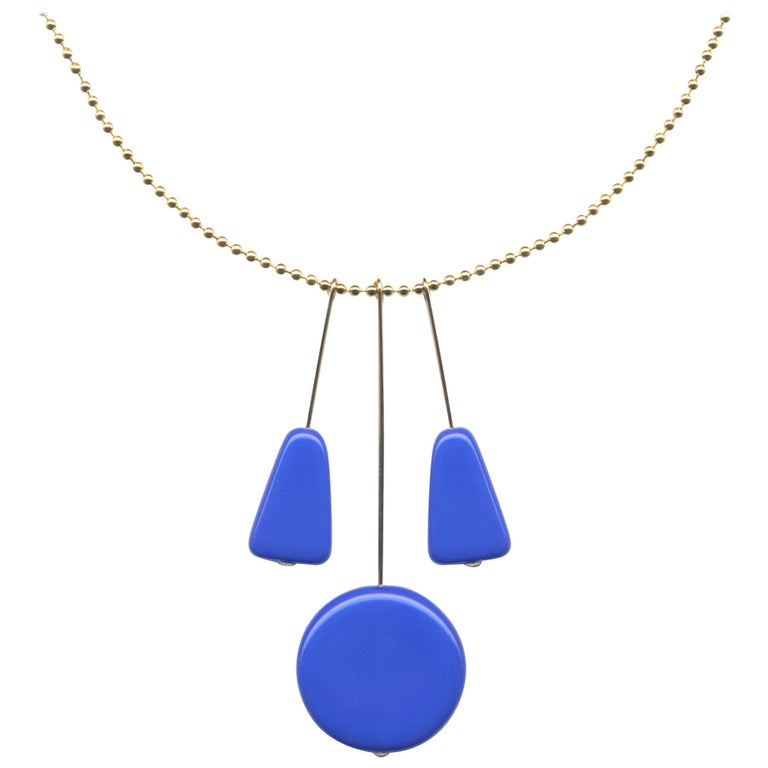 Yves Klein Blue Pendant Necklace For Sale