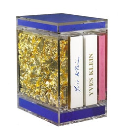 Yves Klein Catalogue Raisonné in Plexiglas Box with Klein Blue, Pink and Gold