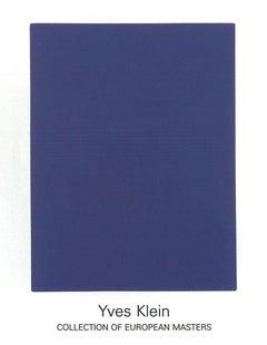 1999 After Yves Klein 'IKB65' Minimalism Blue,White Germany Serigraph