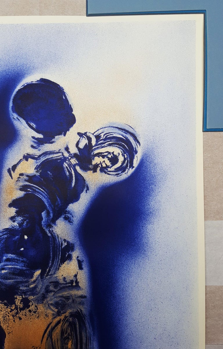 An original lithograph, exhibition poster on light wove paper after French artist Yves Klein (1928-1962) titled