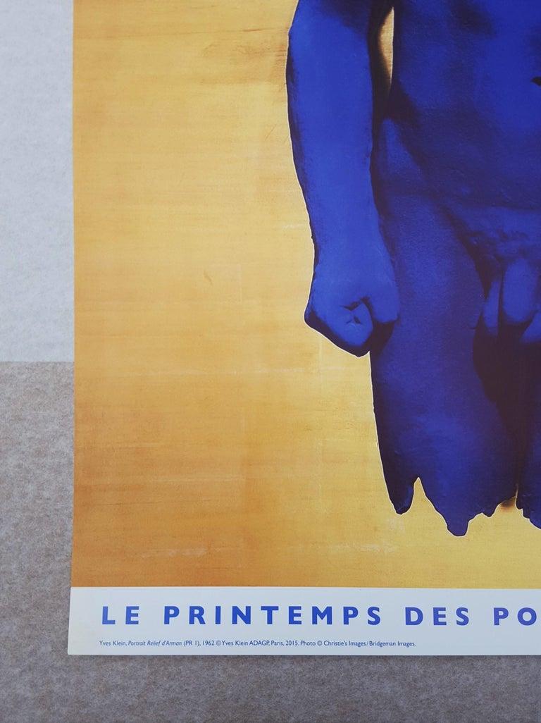 Le Printemps des Poètes (Portrait Relief d'Arman) - Beige Nude Print by Yves Klein