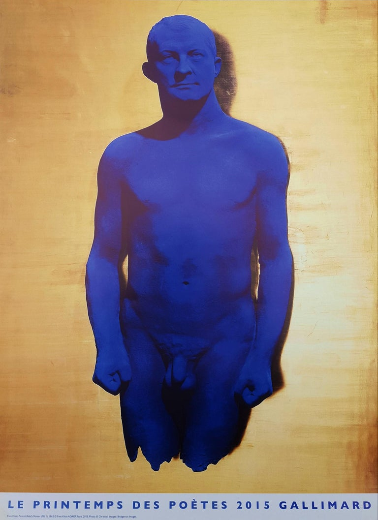 Yves Klein Nude Print - Le Printemps des Poètes (Portrait Relief d'Arman)