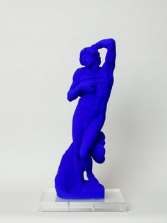 Yves Klein Dying Slave After Michelangelo IKB Sculpture Bright Klein Blue