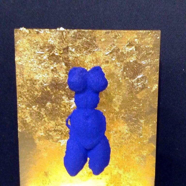 Yves Klein Small IKB Venus Brooch Sculpture Jewel in International Klein Blue For Sale 1