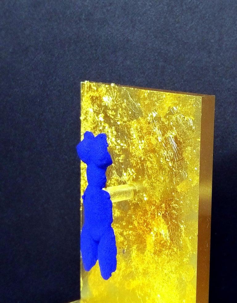 Yves Klein Small IKB Venus Brooch Sculpture Jewel in International Klein Blue For Sale 2