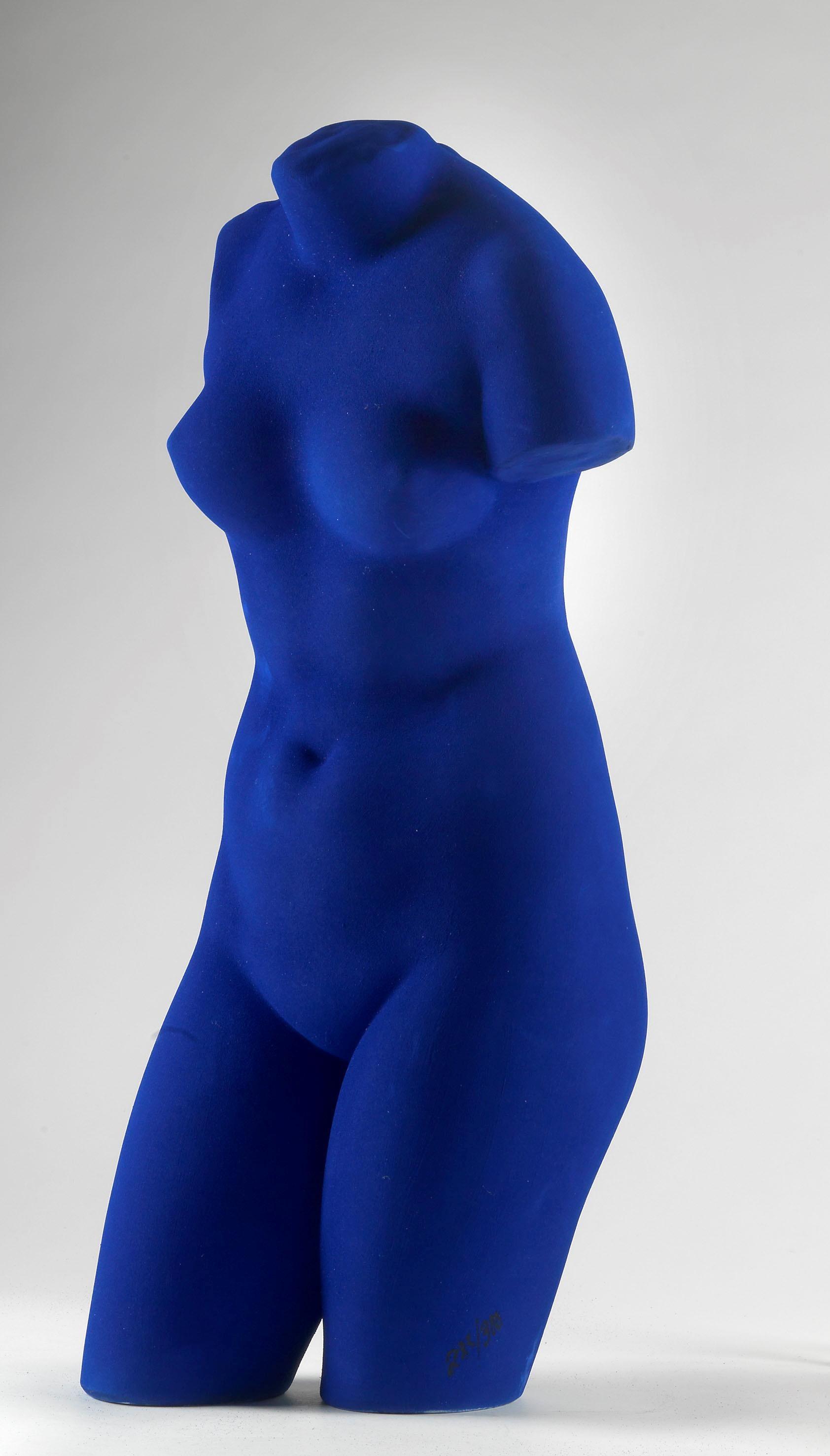 Yves Klein Venus of Alexandria IKB Painted Aphrodite Bust
