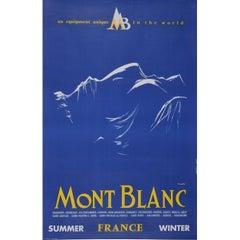 Yves Laty Mont Blanc Original Vintage Skiing Travel Poster Chamonix Combloux