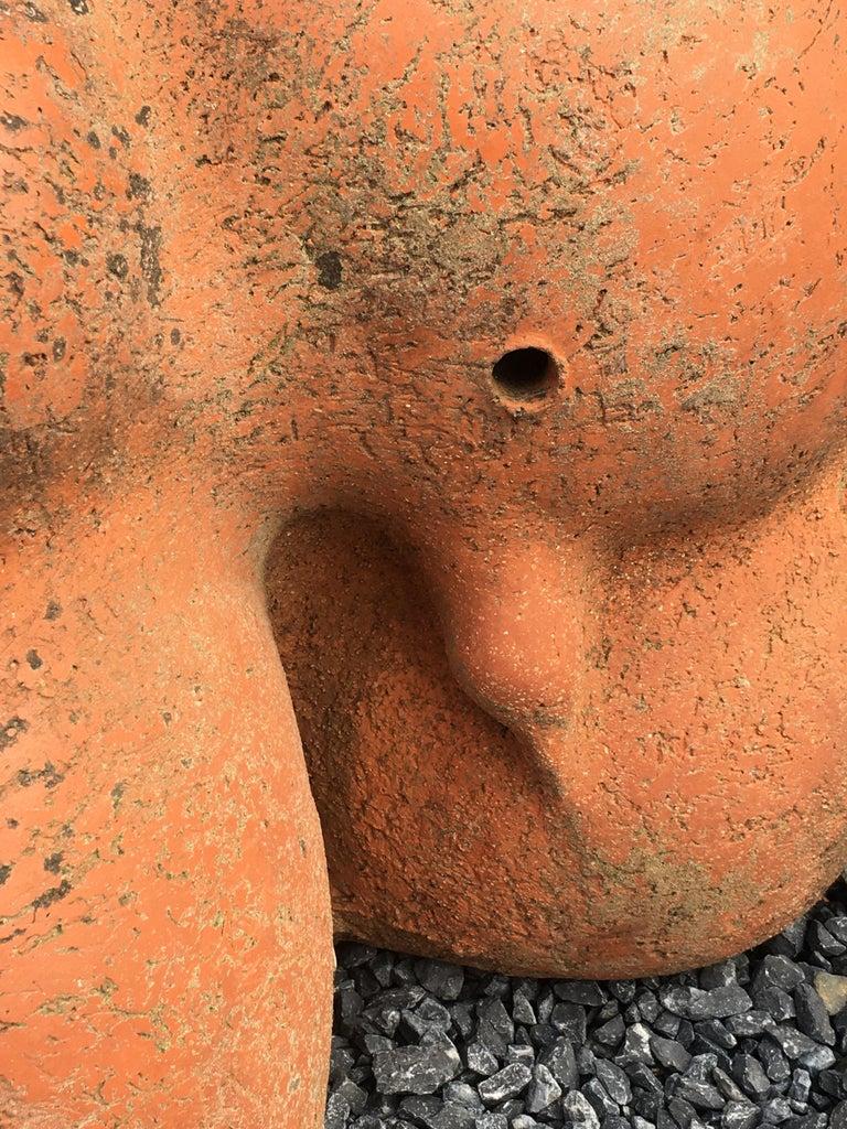 Yves Rhayé Large Terracotta Sculpture, circa 1960-1970 In Good Condition For Sale In Saint-Ouen, FR