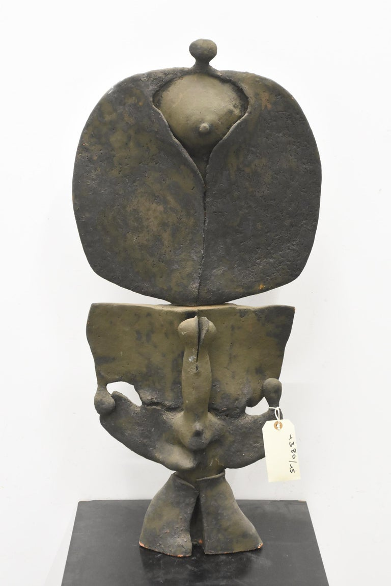 Mid-Century Modern Yves Rhayé '1936-1995' Large Terracotta Sculpture, circa 1970 For Sale