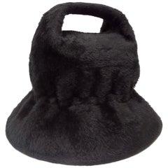 Yves Saint Laurent 1960s Felted Fur Top Handle Bucket Hat