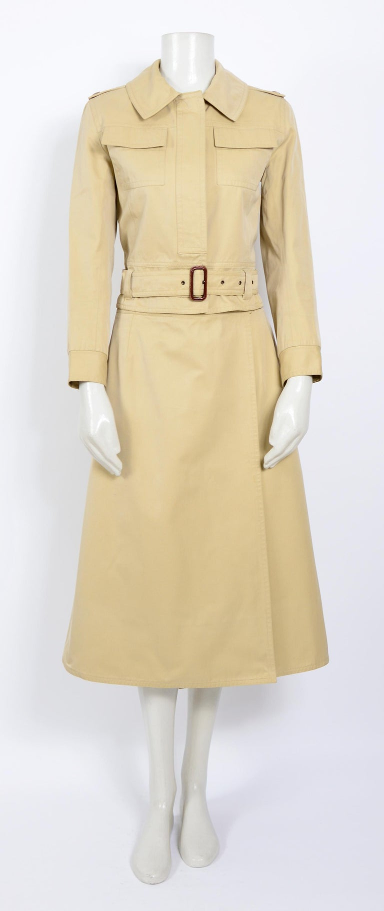 Iconic, important, documented, museum-worthy collector's item seen and photographed on Loulou de la Falaise. Stunning and in perfect vintage condition. Measurements taken flat in inches.  Jacket : Sh to Sh 15,5inch/39cm - Ua to Ua 18inch/46cm(x2) -