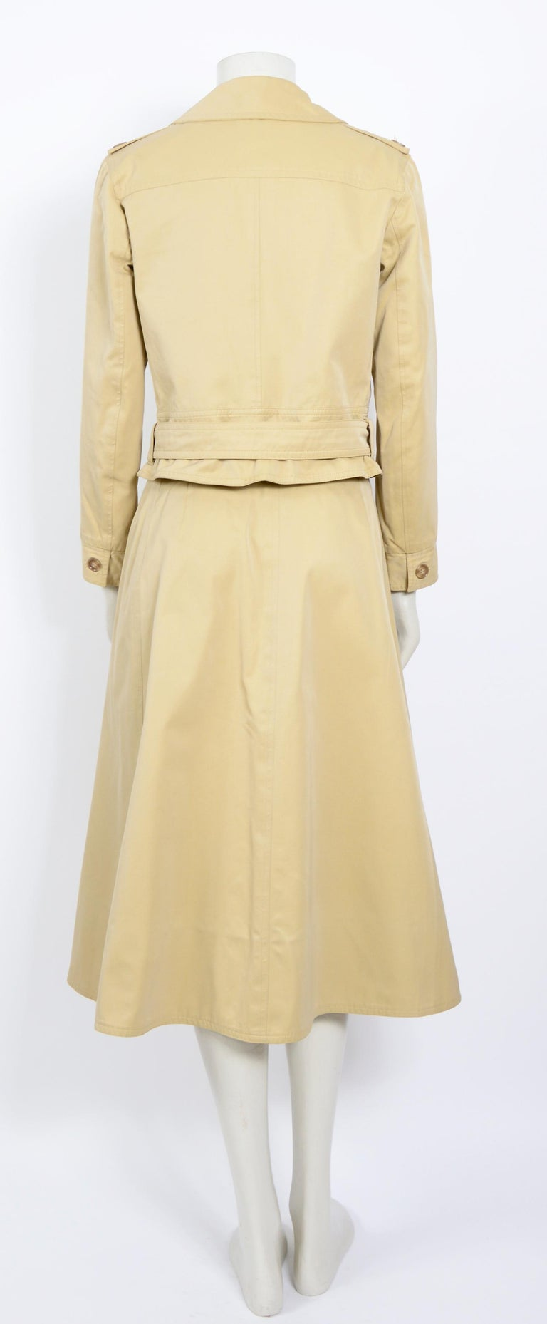 Yves Saint Laurent 1969 collection safari suit as seen on Loulou de la Falaise In Excellent Condition For Sale In Antwerp, BE