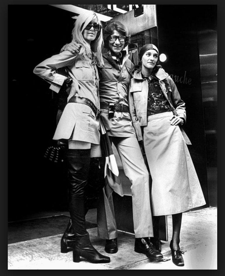 Women's Yves Saint Laurent 1969 collection safari suit as seen on Loulou de la Falaise For Sale
