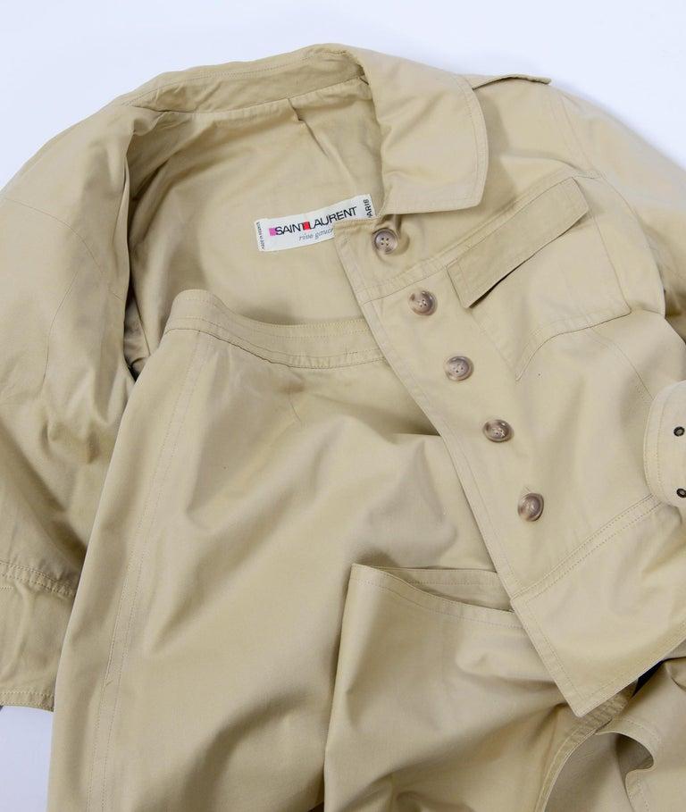 Yves Saint Laurent 1969 collection safari suit as seen on Loulou de la Falaise For Sale 2