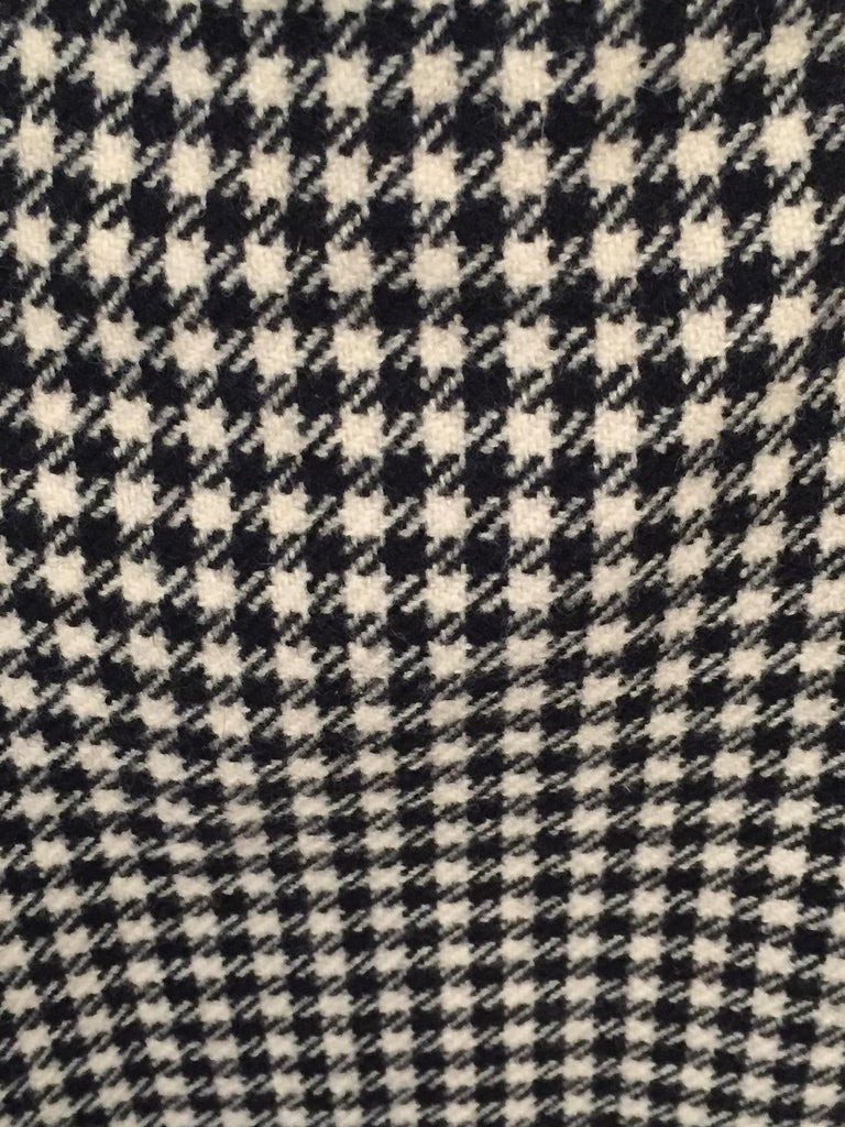 Yves Saint Laurent 1970's Black & White Wool Check Skirt  2