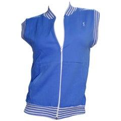 Yves Saint Laurent 1970s Blue Activewear Vest