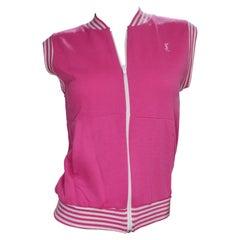 Yves Saint Laurent 1970s Pink Activewear Vest