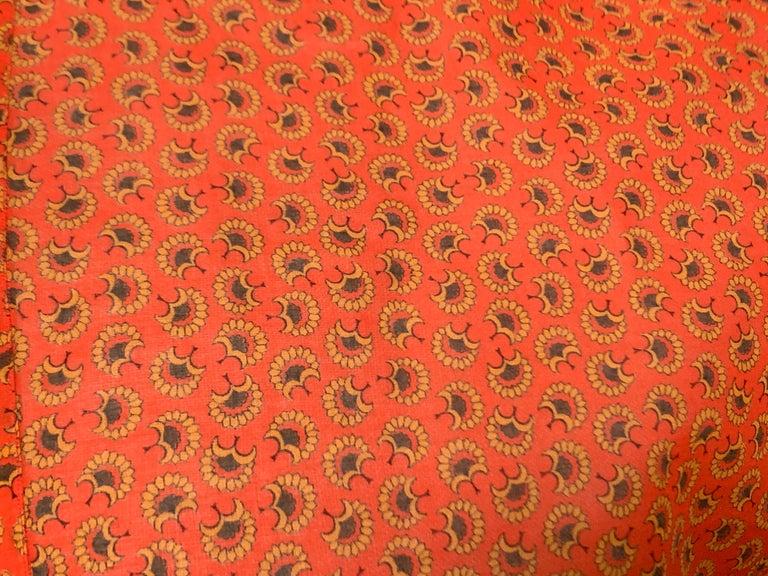 Yves Saint Laurent 1970s Red Orange Paisley Ruffle Prairie Skirt and Top Set For Sale 1
