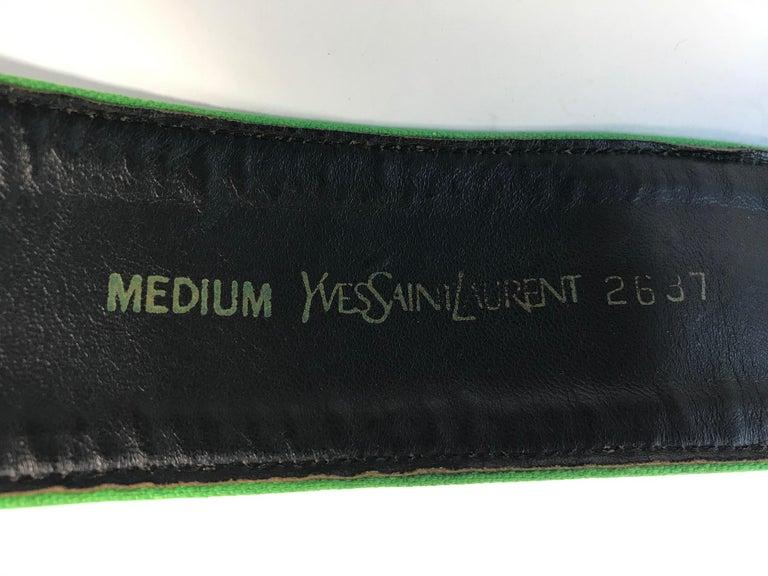 Black Yves Saint Laurent 1970s Waist belt For Sale